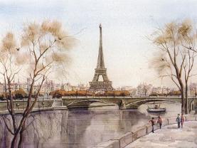 埃菲尔.铁塔设计新颖独特,是世界建筑史上的技术杰作,因而成