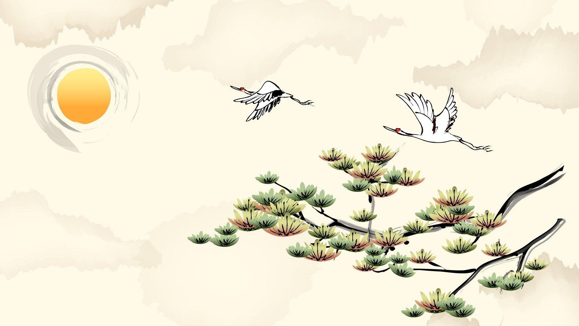 清新唯美中国风绘画桌面壁纸
