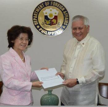 菲律宾向中国云南贵州捐款20万美元