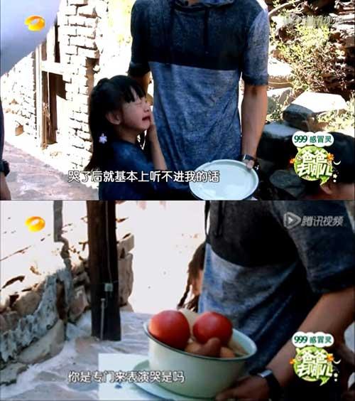 第一期节目,田亮的女儿Cindy足足哭了三小时,田亮手足无措(点击图片观看完整视频)