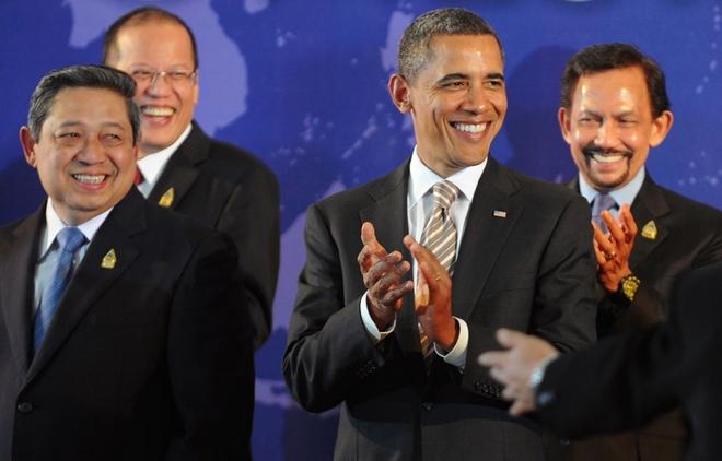 """越来越多的亚洲国家希望美国""""重返亚洲""""。"""