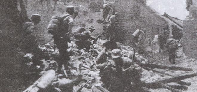 台儿庄战役中的逐屋争夺战