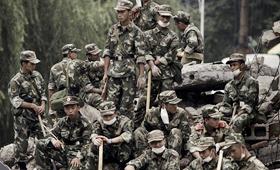 片中的战士全是当地驻军参与配合