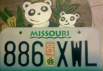 美国的年检标识是印在汽车牌照上的。