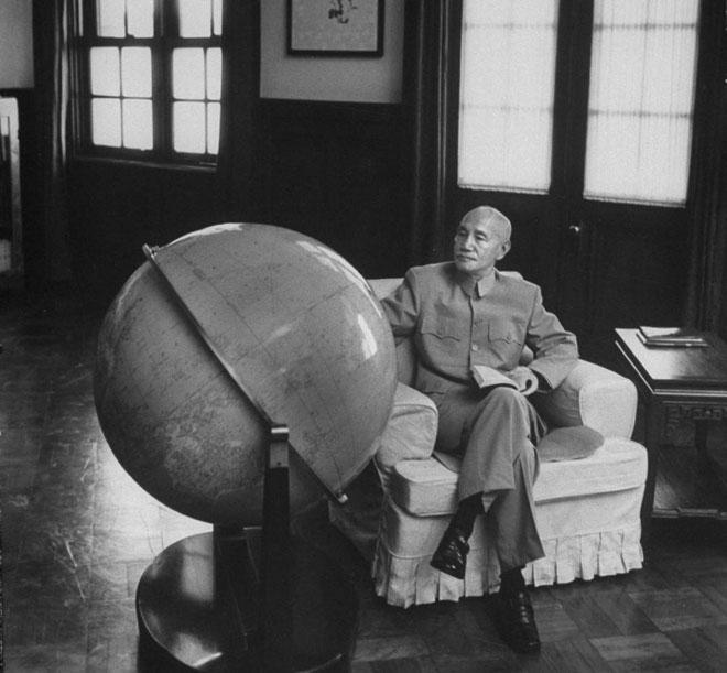 1961年,蒋介石在台湾官邸