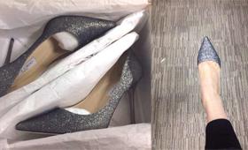 某小编购得二千同款高跟鞋引周围无数羡慕