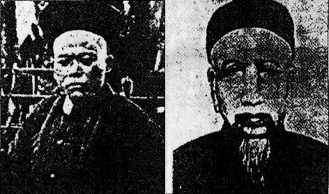 左:洪秀全青年时代照片;右:影响洪秀全较深的传教士梁发