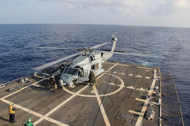"""美国此次派出参与救援的""""平克尼号""""驱逐舰"""