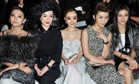 2012年的巴黎时装周成为中国女星的后花园