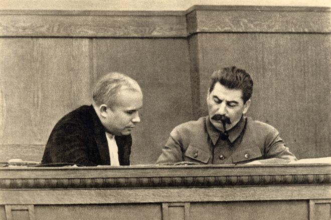 斯大林与赫鲁晓夫,1936年