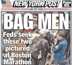 波士顿爆炸案中,《纽约邮报》误报嫌疑人