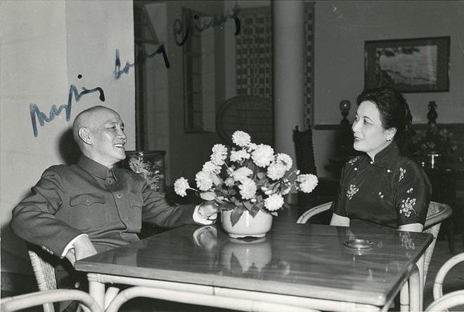 蒋介石、宋美龄夫妇合影