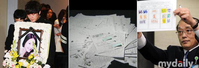 2009年张紫妍自杀,所留遗书详细揭露了韩国娱乐圈性贿赂丑闻。警方经鉴定,笔迹为她本人所写。
