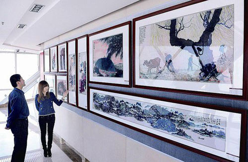 收藏着新疆首富孙广信书画的展厅