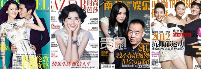 陈凯歌电影《搜索》在宣传期间,以个人或组合的形式,登上了43本杂志的封面,极大扩散了电影的信息。