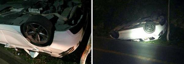 此次事故胡斌驾驶的宝马轿车有多处被改装