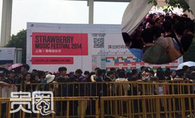 有网友戏称,音乐节进场如百万雄师过大江