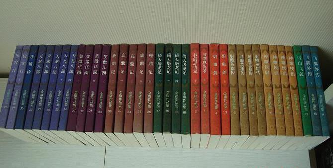 原价688元的三联版金庸作品集,如今已被书迷炒到上万元