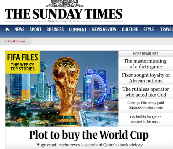 《星期日泰晤士报》这次的揭黑报道堪称典范