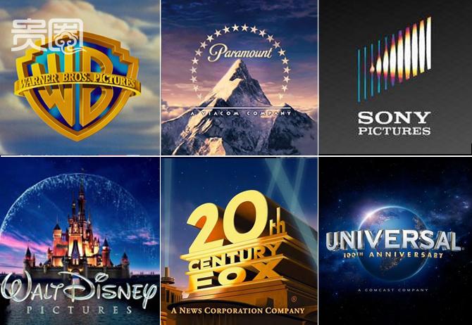 """这些logo你是不是很眼熟,能一一对应么?自1993年起,好莱坞""""六大""""制片公司均在华设立办事机构。"""