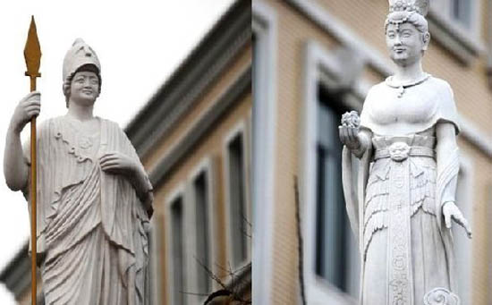 """西北大学的""""女神像"""""""
