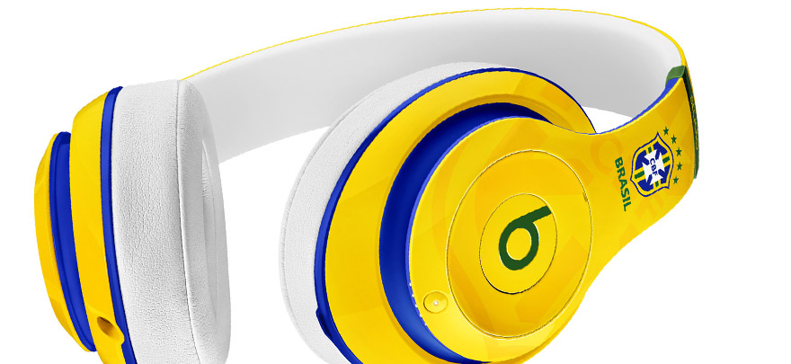 浓浓巴西风情:Beats Studio 世界杯纪念版头戴式耳机
