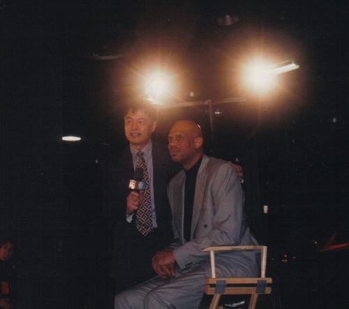 1996年全明星周末,张指导采访著名球星贾巴尔
