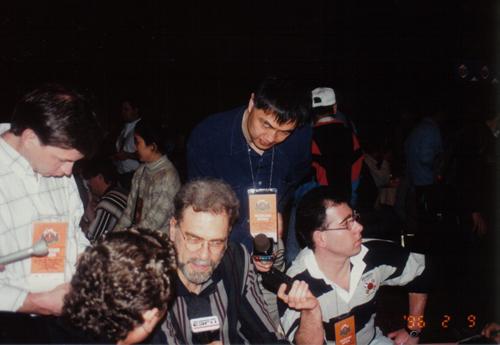 张指导在1996全明星周末采访东部主帅菲尔-杰克逊