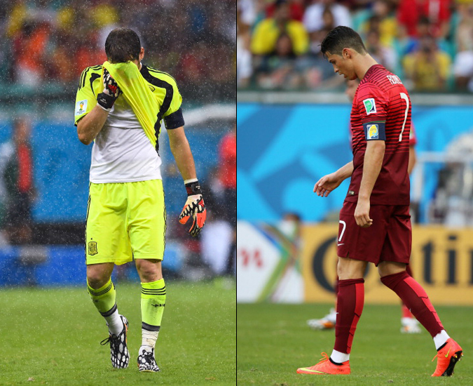 西班牙和葡萄牙在丰特诺瓦球场接连失利,大比分输球