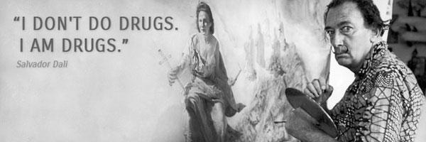 """萨尔瓦多・达利:""""我不嗑药,我自己就是毒品。"""""""