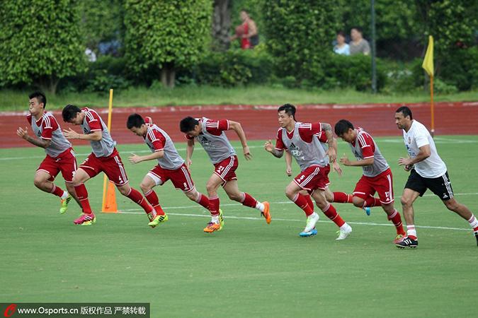 体能训练是国足集训的重要部分