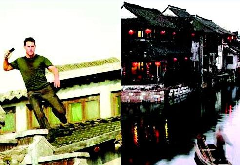 在好莱坞大片里,可以看到上海的高楼,成都的宽窄巷子,水乡乌镇