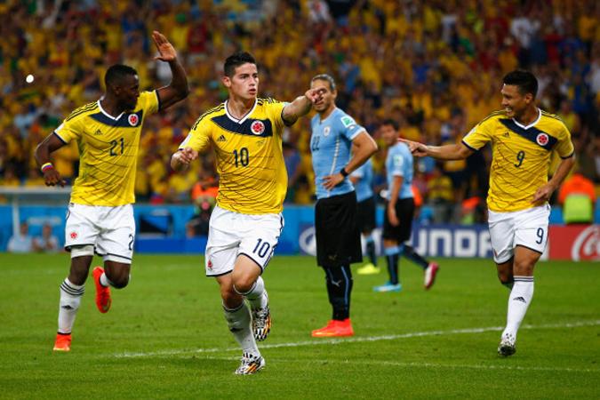 哥伦比亚新星J罗打入制胜球,2比0战胜乌拉圭,进入八强。