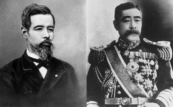 左:日本外相陆奥宗光;右:参谋本部次长川上操六