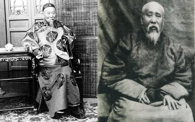 左:主和派、后党代理人李鸿章;右:主战派、帝党魁首翁同龢