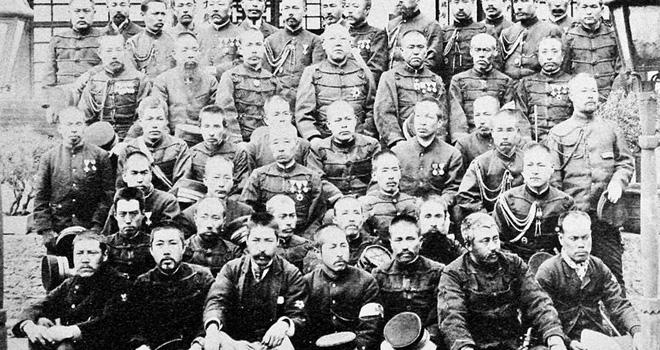 甲午战争中的日本士兵