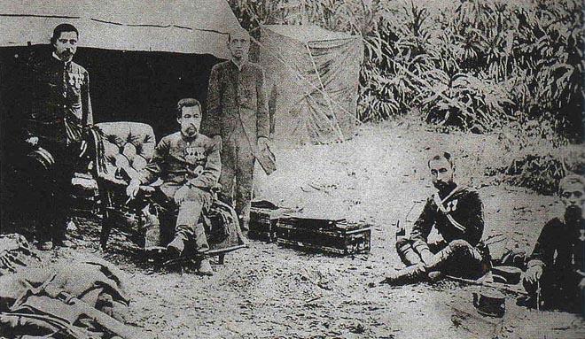 日本北白川宫能久亲王在征台营地,宫能久死于此役