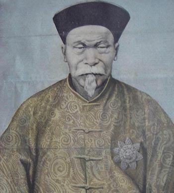 李鸿章访欧时,西方媒体为其绘制的肖像画