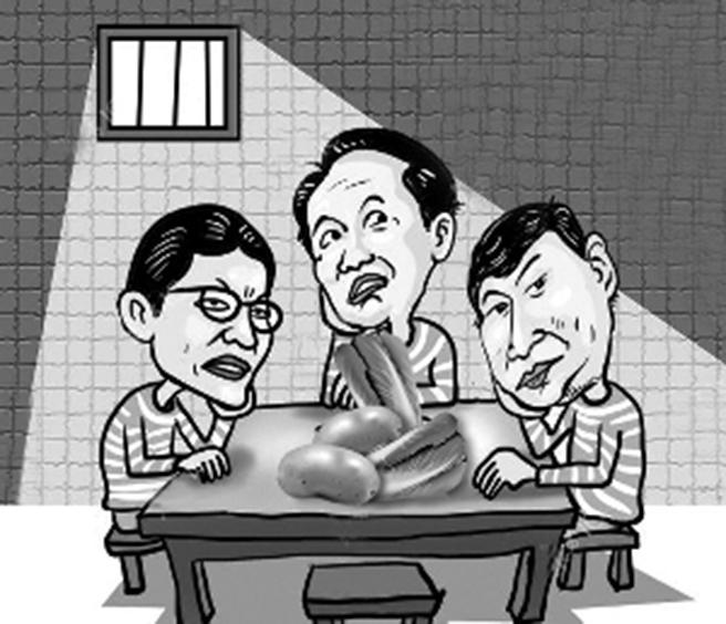 谢亚龙在狱中的伙食是土豆、萝卜和白菜