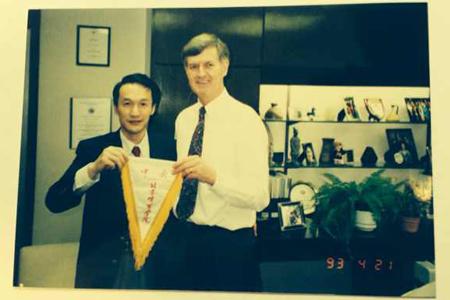 谢亚龙任北京体育大学副校长时的照片