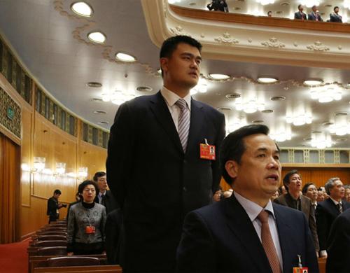 """姚明在今年的政协会议上提出""""取消赛事审批""""议案"""