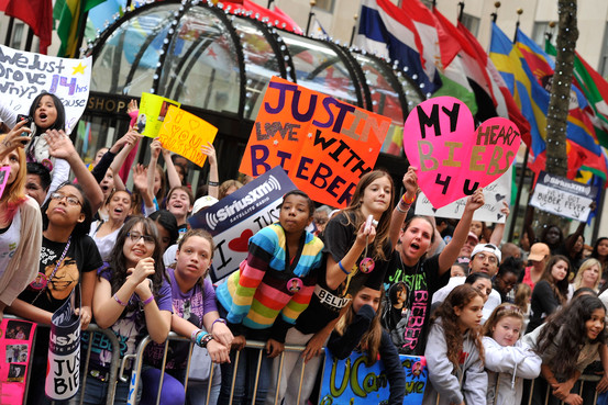 贾斯汀・比伯的粉丝,绝大多数都是少女
