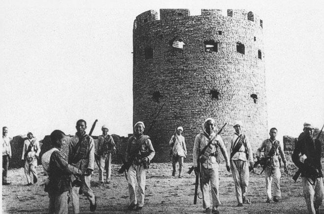 百团大战中,民兵攻克曲杨县下河镇日伪军据点
