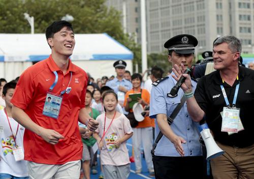 刘翔参加青奥会活动