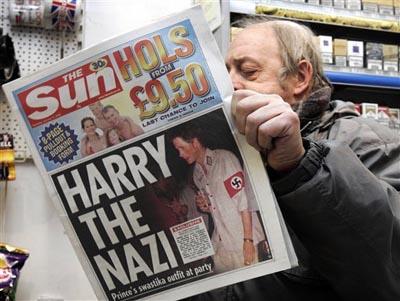 哈里也曾穿纳粹标志衣服,但英国没有类似法律规制