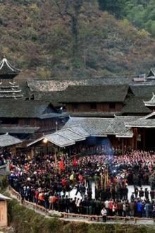 千三侗寨祭拜歌舞交友聚会