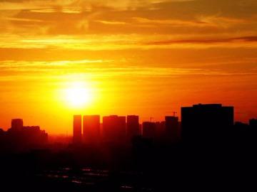 火炉山拍日落