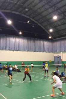 桃源路中体育局手球馆打羽毛球(1、2号场地)