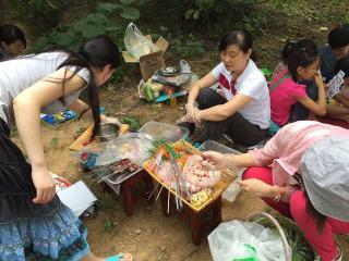 全台州组队去临海江南漂流情人谷烧烤