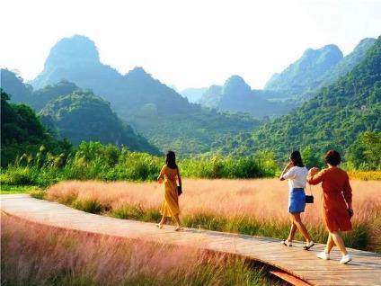 10.20日徒步英西峰林+网红粉黛乱子草